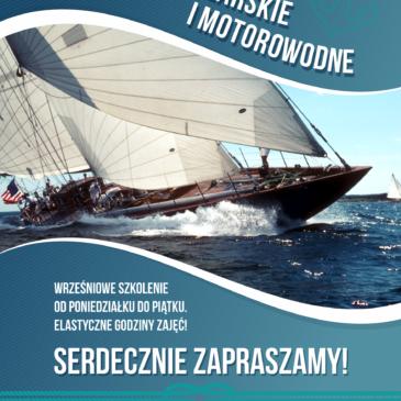 Wrześniowe szkolenie żeglarskie