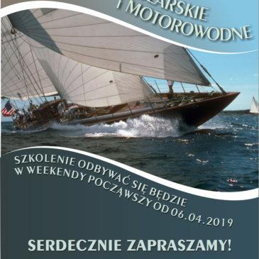Szkolenie żeglarskie i motorowodne 2019